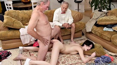 Pickup, Girl anal, Short hair, Old men, Short girl, Old young anal