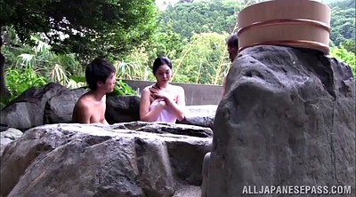 Japanese milf, Hot spring, Japanese big tit