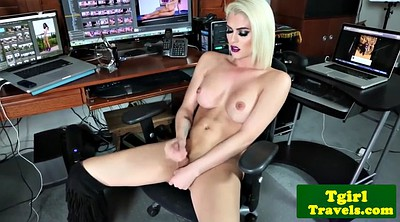 Striptease, Shemale cumshots, Solo shemale, Huge tits solo