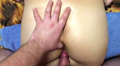 Oiled, Young russian, Oiled creampie