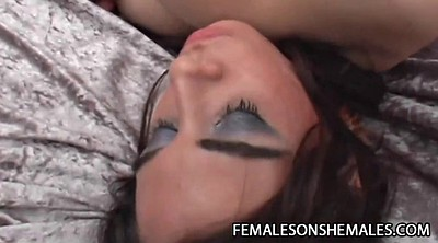 Female, Lola, Shemale orgasm, Shemale and shemale