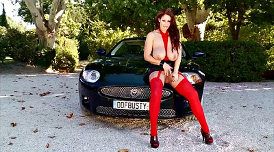 Pornstar solo, Eva notty, Eva, Big tit solo, Car masturbation