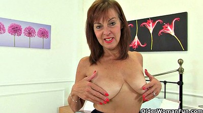 Mature nylon, British granny, Nylon granny