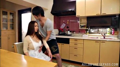 Kitchen, Redhead, Asian pornstar, Panty fuck, Asian panties