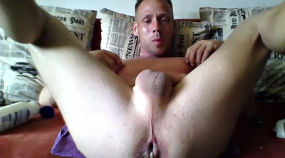 Male, Big dildo anal, Male solo