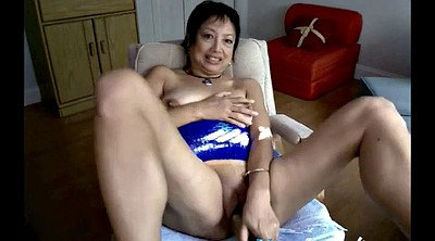 Asian granny, Webcam mature, Mature dildo, Granny dildo masturbation