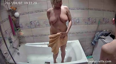 Voyeur shower, Young blonde, Hidden shower, Hidden cam shower