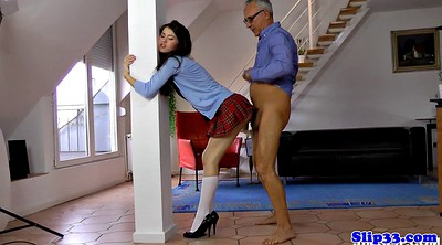 Spank, Girl spank, Young girl, Tongue, Spank girl, Masturbation man