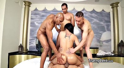 Tgirl, Shemale group, Shemale group sex