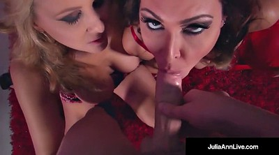Julia ann, Jessica jaymes, Cougar, Double blowjob