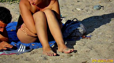 Clit, Pussy close up, Nude beach