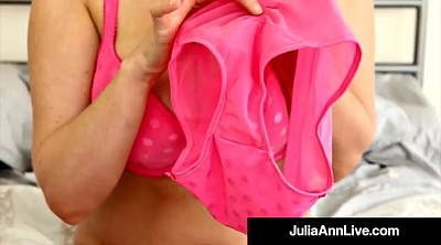 Julia ann, Julia, Stockings milf, Julia ann milf, Bra, Milf pantyhose