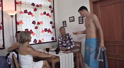 Family, Family sex, Family threesome, Skinny granny, Granny threesome, Old family