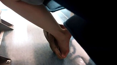 Nylon feet, Candid, Shoeplay, Nylon foot