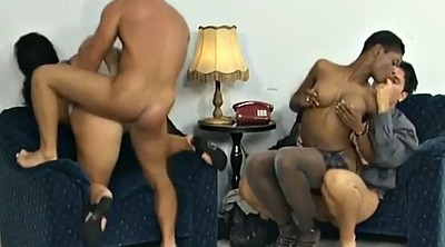 Interracial orgy, Two couples