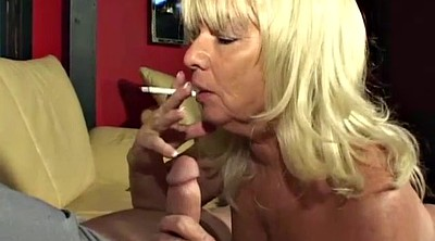 Smoking, Handjob mature