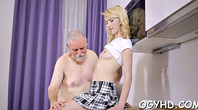 Russian, Young pussy, Russian granny