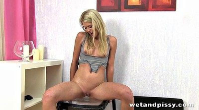 Anal squirt, Girl pee, Pee girl, Chair, Squirt anal