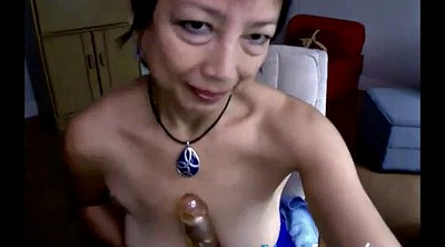 Asian granny, Dildo, Mature webcam, Asian webcam, Webcam mature, Mature fucking