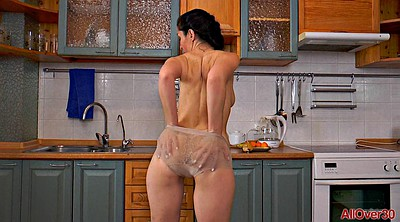 Kitchen, Slim, Screaming, Sexy small, Herself