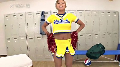Yui, Uncensored japanese, Locker, Cheerleader, Locker room