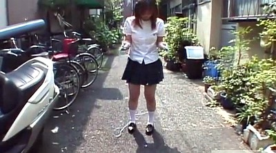 Rope, Insertion, Japanese uniform, Japanese subtitled, Japanese schoolgirl, Japanese public