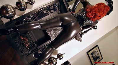 Latex, Red milf, Lubed, Catsuit