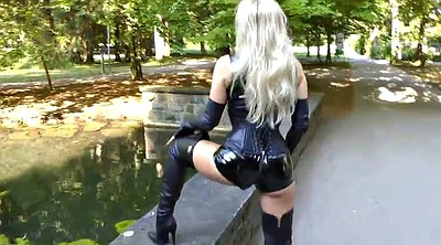 Blacks, Black lady, German latex, Black outdoor