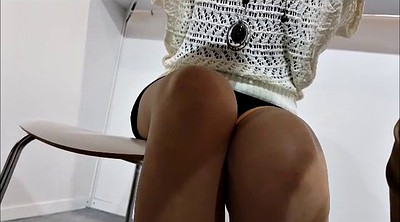 Upskirt, Skinny, Secretary, Table, Under table