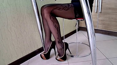 Stockings, High-heeled shoes