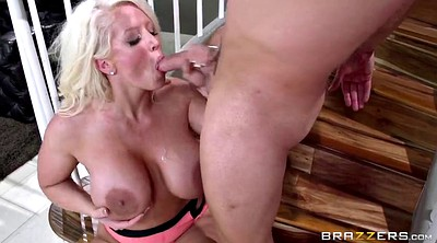 Blonde stepmom, Stepmother, Mature boy, Young boy, Blonde mature, Young big tits
