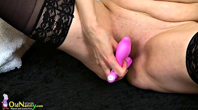 Mature solo, Granny solo, Shaving, Sex toy horny mature