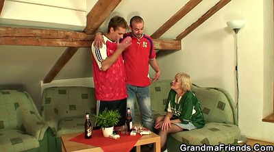 Old and young, Granny threesome, Old milf, Old and young threesome, Lost