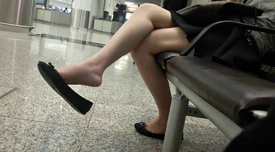 Candid, Asian feet, Asian foot, Shoeplay, Sexy feet, Leg