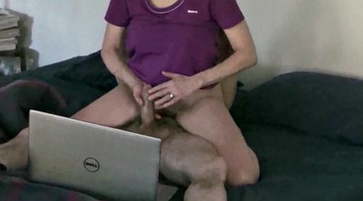 Hairy, Wife watch, Big woman, Hairy cock, Womanizer, Watching porn