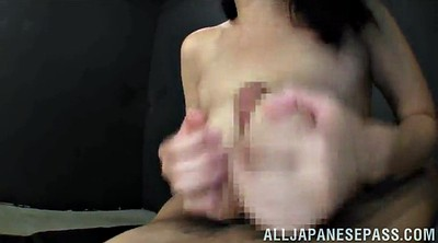 Double penetration, Hand job, Natural big tits, Asian threesome, Natural tits