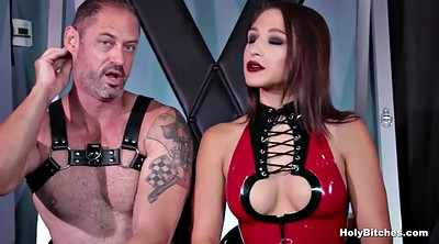 Leather, Lips, Strapon anal, Mistress strapon, Latex anal