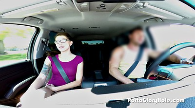 Casting, Slim teen, Teen casting, In the car