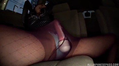 Pantyhose, Pantyhose sex, Car masturbation, Car sex, Asian pantyhose
