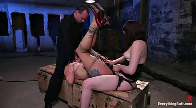 Sex anal, Lesbian anal bdsm, Insertion