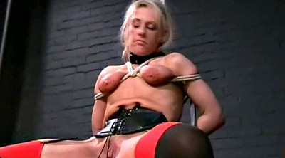 Leather slave, Scream, Tied toyed
