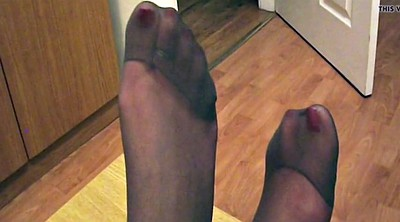 Nylon feet, Nylon foot, Pantyhose foot, Pantyhose feet