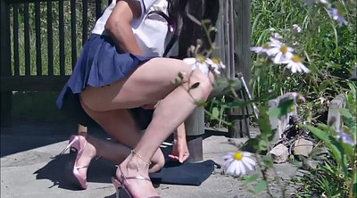 Japanese school, Crossdresser, Japanese masturbation, Japanese outdoor, Japanese crossdresser