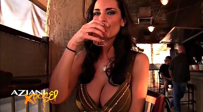 Drunk, Upskirt, Big boobs masturbation, Masturbation finger, Public boob, Bar