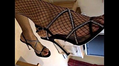 Fishnet, Anal heels, Foot anal