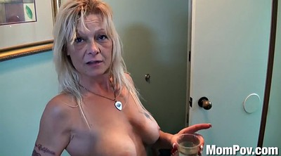 Mature solo, Mature shower, Granny solo, Granny masturbation, Saggy tits