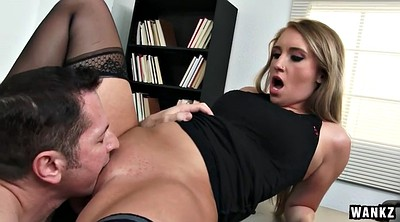 Office, Blonde, Tit job, Tits job