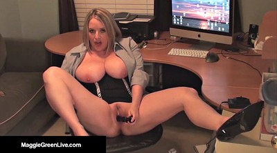 Beautiful, Office slut, Masturbation heels, Maggie green