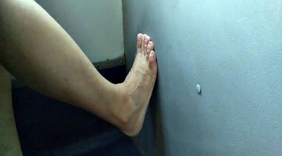 Feet, Bus, Foot job, In bus, Hidden cam granny