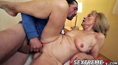 Old young, Mature blonde, Granny masturbation